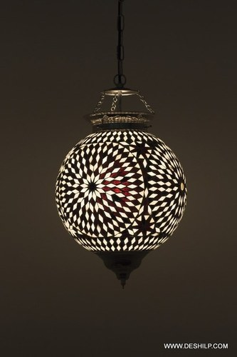 Indian Home Decorative Glass Hanging Lamps