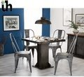 Wooden Industrial Square Dining Table