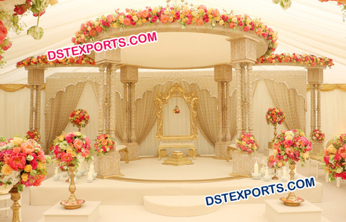 Traditional Fiber Mandap Set