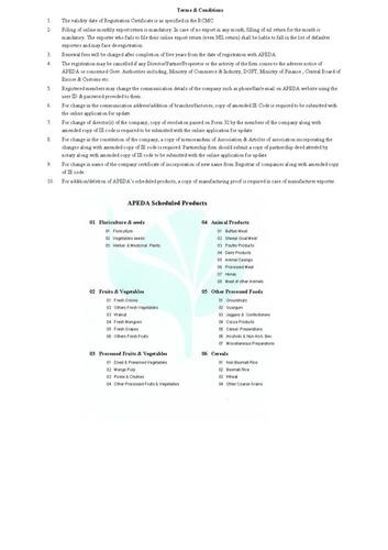APEDA Certificate