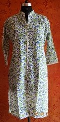 Hand Block Printed Cotton Floral Kurta