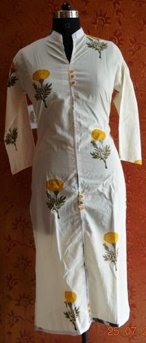 Hand Block Printed Cotton Floral Kurta