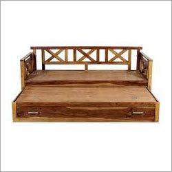 Solid Wood Cabinet Sofa cum bed
