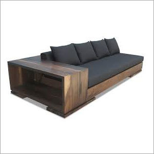 Solid Wood Modern Sofa
