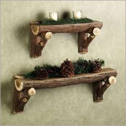 Natural Wood Designer Wall Shelve