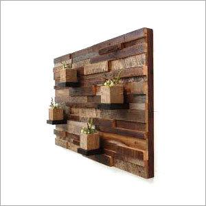 Natural Wood Wall Showcase