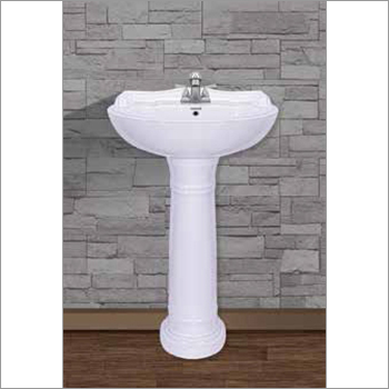Ceramic White Pedestal Wash Basin