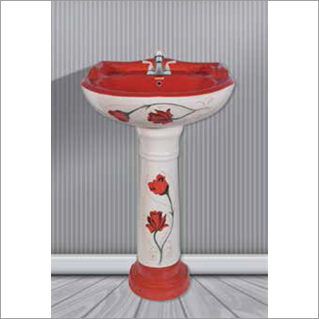Star Gold Set Vitrosa Pedestal Wash Basin