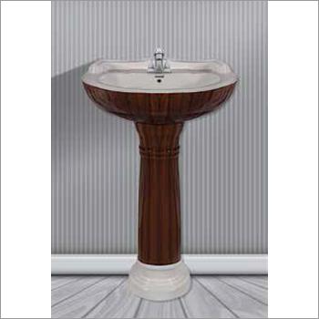 Wooden Type Pedestal Wash Basin