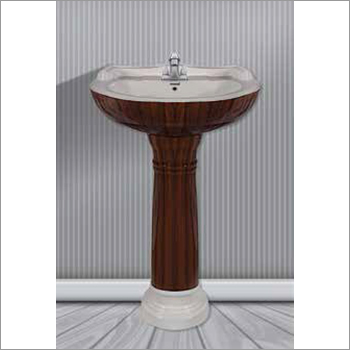 Wooden Type Pedestal Wash Basin