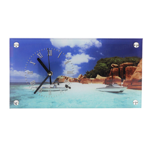 Sublimation Glass Clock Photo Frame