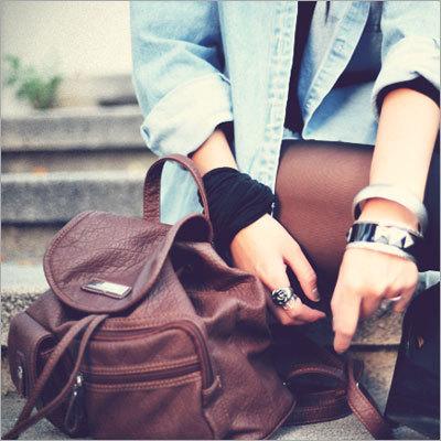 Brown Leather Fashion Bag