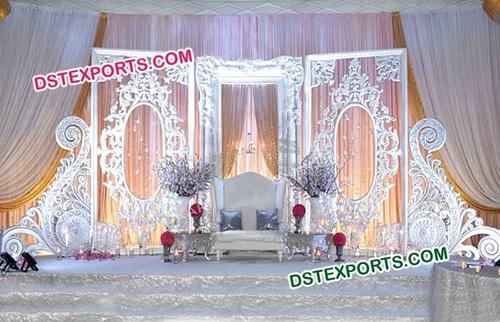 Beautiful White Fiber Backdrop Panels