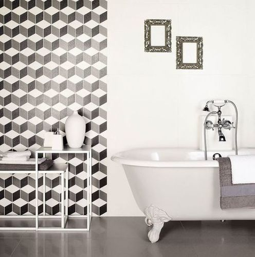 BLACK GLOSSY WALL TILES