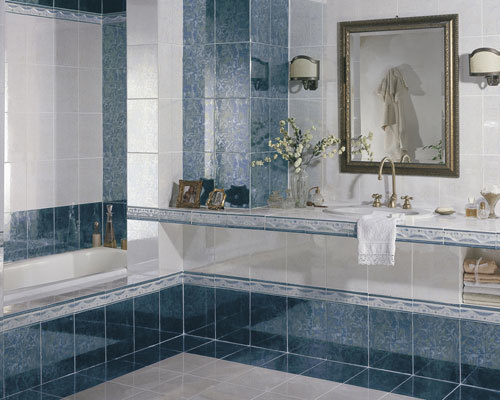 BLUE DESIGN WALL TILES