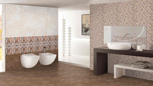 STYLISH BROWN WALL TILES