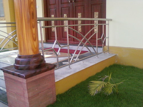 SS Hand Railings with Wooden