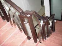 Wooden with SS Handrailings