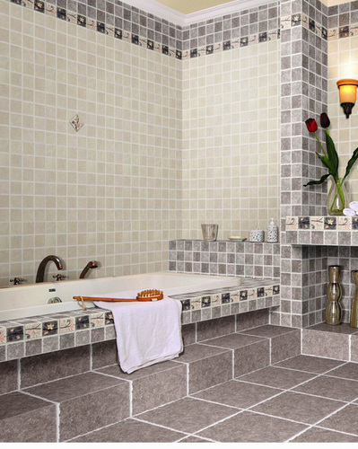 BROWN WHITE COMBINATION IN WALL TILES