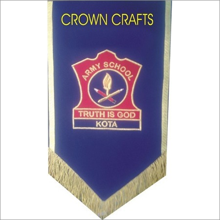 Embroidered Banner Flag