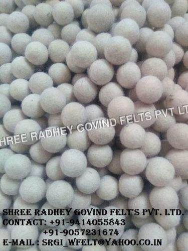 White Wool Balls