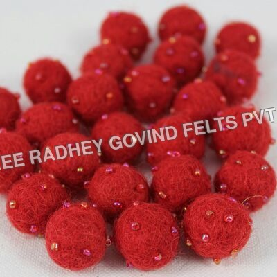 Pure Wool Red Balls