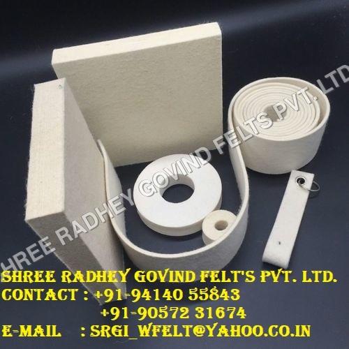 White Adhesive Felt Rolls