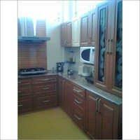 Small Wooden Modular Kitchen