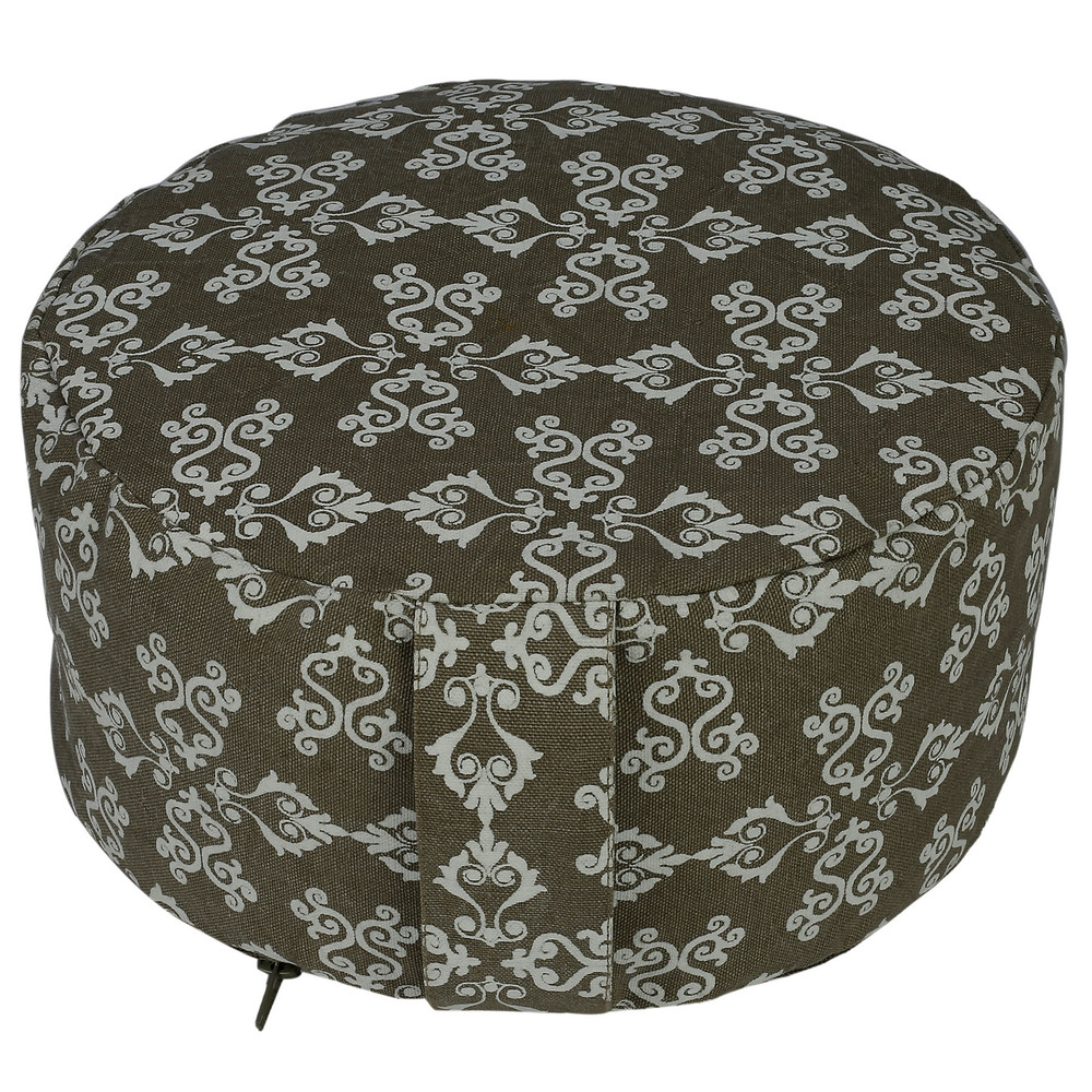 Full printed non plated meditation cushion zafu