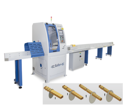 automatic wood cut off saw
