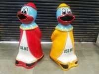 Animal Dustbin Donald Duck Shape