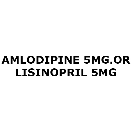 Amlodipine 5Mg. Or Lisinopril 5Mg