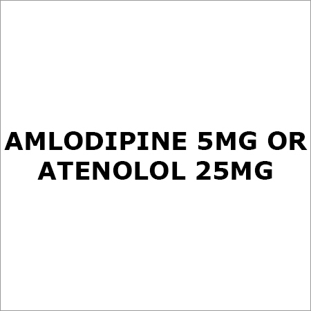 Amlodipine 5Mg. Or Atenolol 25Mg