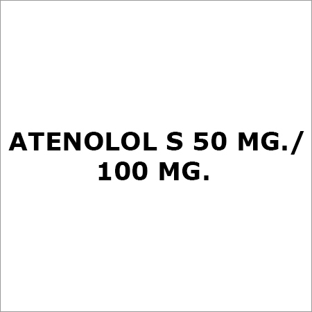 Atenolol S 50 Mg. Or 100 Mg.