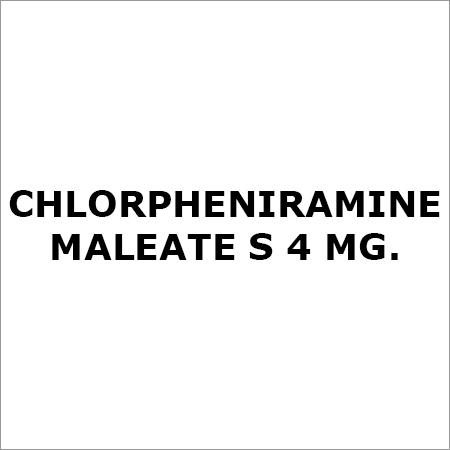 Chlorpheniramine Maleate S 4 Mg.