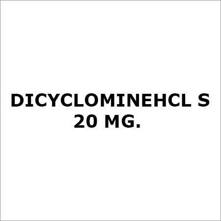 Dicyclominehcl S 20 Mg.