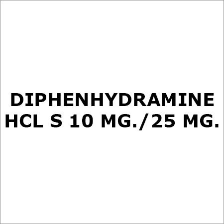 Diphenhydramine Hcl S 10 Mg.-25 Mg.