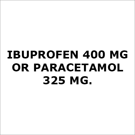 Ibuprofen 400 Mg Or Paracetamol 325 Mg,