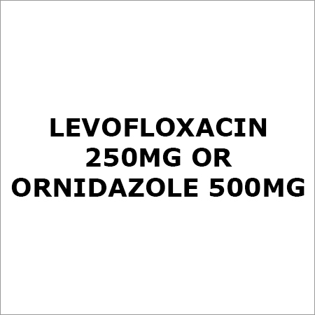 Levofloxacin 250Mg Or Ornidazole 500Mg