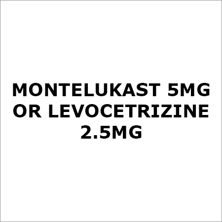 Montelukast 5Mg Or Levocetrizine 2.5Mg
