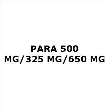 Para 500 Mg-325 Mg-650 Mg