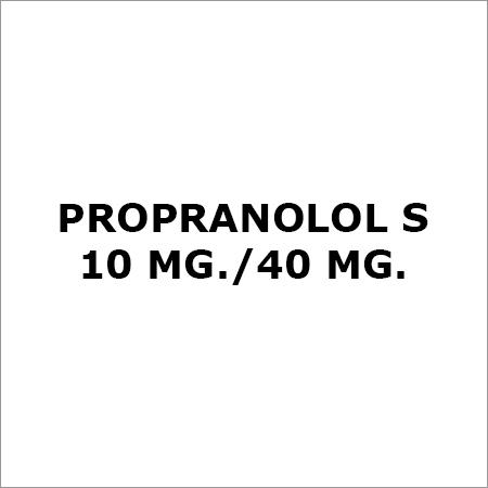 Propranolol S 10 Mg.-40 Mg.