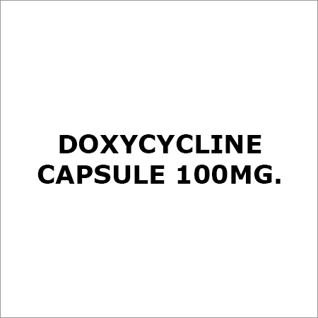 Doxycycline Capsule 100Mg.