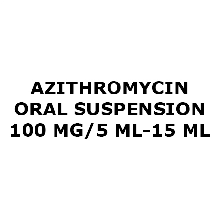 Azithromycin Oral Suspension 100 Mg-5 Ml-15 ML