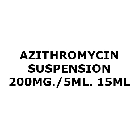 Azithromycin Suspension 200Mg.-5ML. 15ML