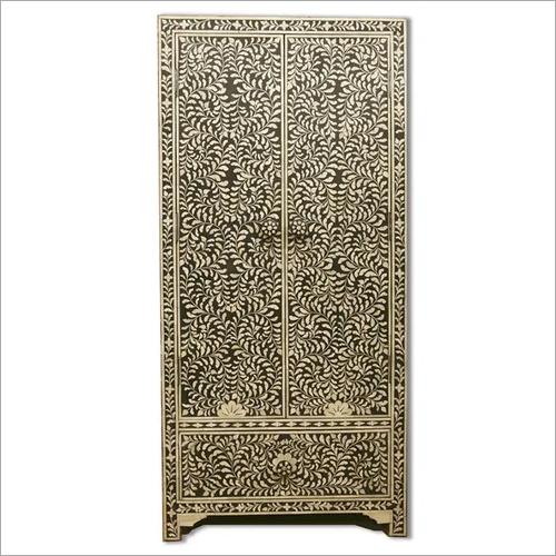 Indian Black Bone Inlay Cupboard