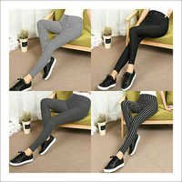 Ladies Striped Jeggings