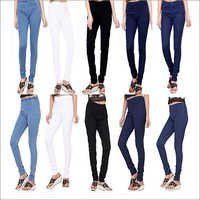 Ladies Plain Denim Jeggings