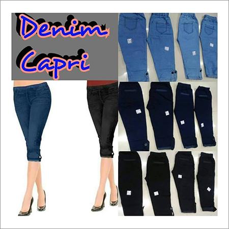 Ladies Denim Capris