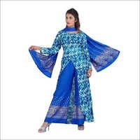 Ladies Digital Print Palazzo Suit